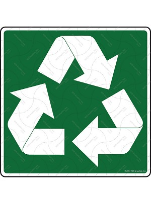 Recycle Symbol Sign or Sticker