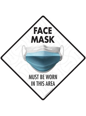 Face Mask Must Be Worn Aluminum Signs or Vinyl Sticker