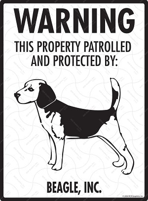 Beagle - Warning! Property Sign