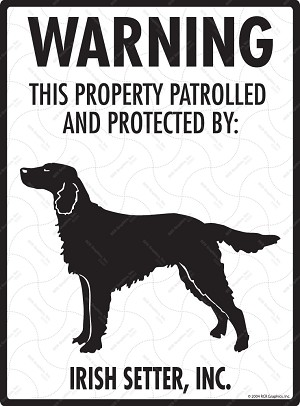 Irish Setter - Warning! Property Sign