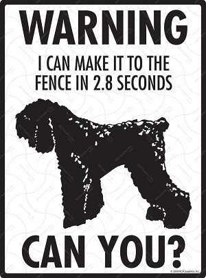 Black Russian Terrier - Warning! Fence Sign