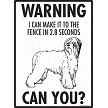 Briard - Warning! Fence Sign