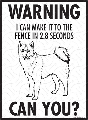 Warning! Finnish Spitz Fence Signs - 9