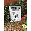 Yorkshire Terrier - Warning! Fence Sign