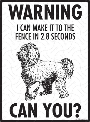 Labradoodle - Warning! Fence Sign