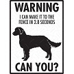 American Water Spaniel - Warning! Fence Sign