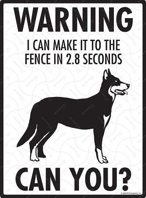 Beauceron - Warning! Fence Sign