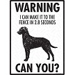 Curly-Coated Retriever - Warning! Fence Sign