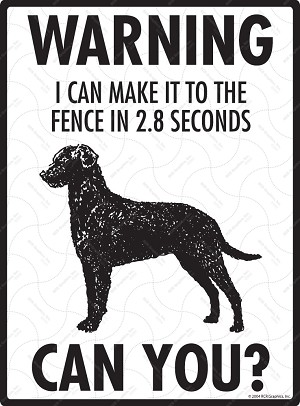 Warning! Curly-Coated Retriever Fence Signs - 9