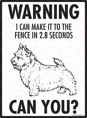 Norwich Terrier - Warning! Fence Sign