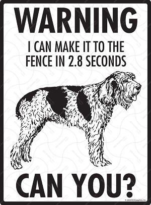 Spinone Italiano - Warning! Fence Sign