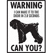 Black Russian Terrier - Warning! Door Sign