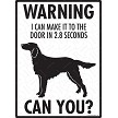 Irish Setter - Warning! Door Sign