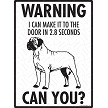 Bullmastiff - Warning! Door Sign