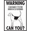 English Foxhound - Warning! Door Sign