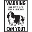 English Toy Spaniel - Warning! Door Sign