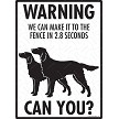 Irish Setter - Warning! We Fence Sign