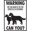 American Water Spaniel - Warning! We Fence Sign