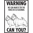 Norwich Terrier - Warning! We Fence Sign