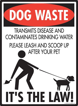 Dog Waste - It's the Law Signs