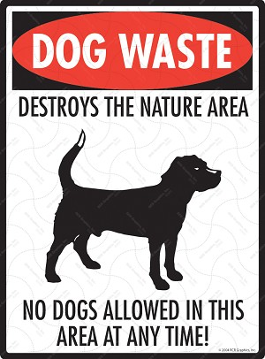 Dog Waste Destroys Sign