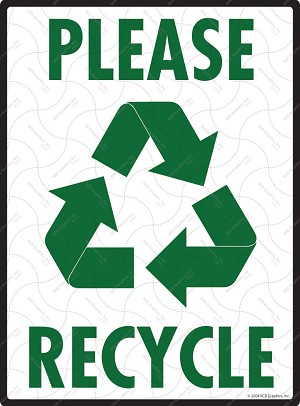 Please Recycle with Symbol Sign