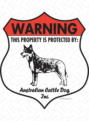 Australian Cattle Dog Badge Shape Signs