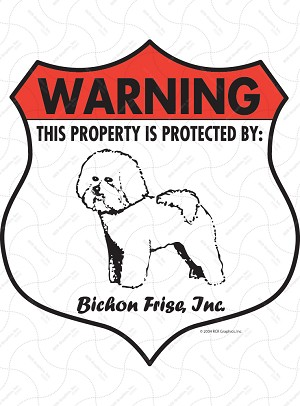 Bichon Badge Shape Sign or Sticker
