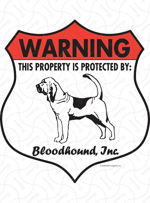Bloodhound Badge Shape Sign or Sticker