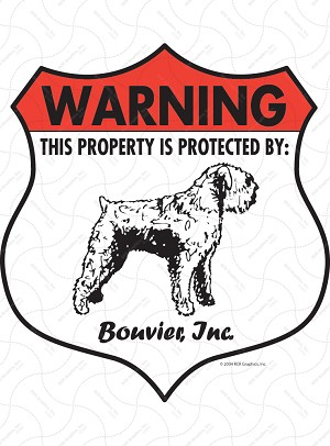 Bouvier des Flandres Badge Shape Sign or Sticker