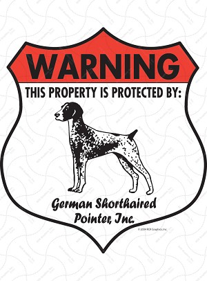German Shorthaired Pointer Badge Shape Sign or Sticker