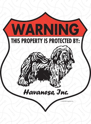 Havanese Badge Shape Sign or Sticker