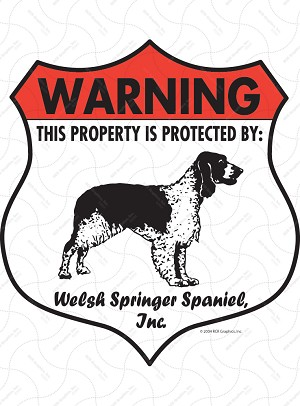 Welsh Springer Spaniel Badge Shape Sign or Sticker