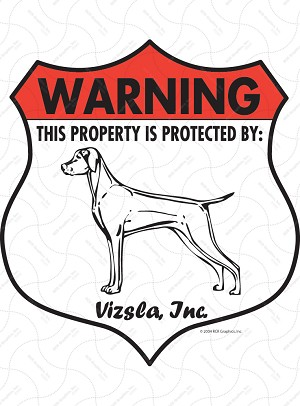 Vizsla Badge Shape Sign or Sticker