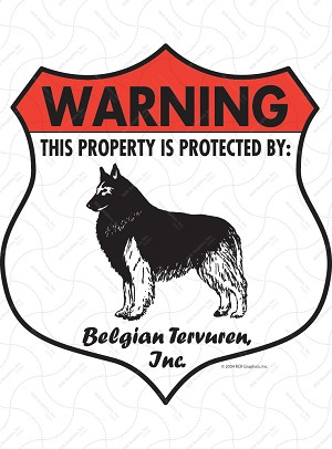 Belgian Tervuren Badge Shape Sign or Sticker