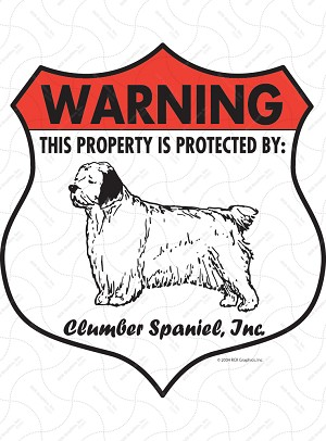 Clumber Spaniel Badge Shape Sign or Sticker