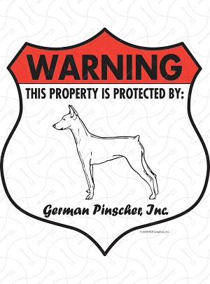 German Pinscher Badge Shape Sign or Sticker