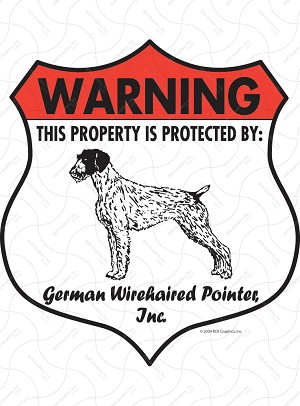 German Wirehaired Pointer Badge Shape Sign or Sticker