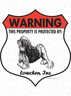 Lowchen! Property Patrolled Badge Sign and Sticker