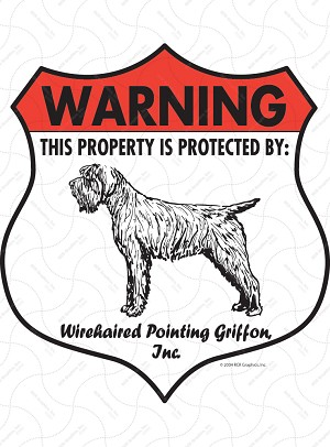 Wirehaired Pointing Griffon Badge Shape Sign or Sticker