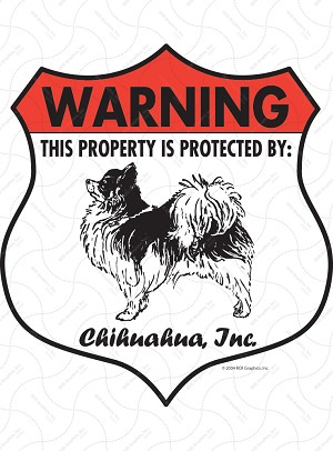 Chihuahua Badge Shape Sign or Sticker