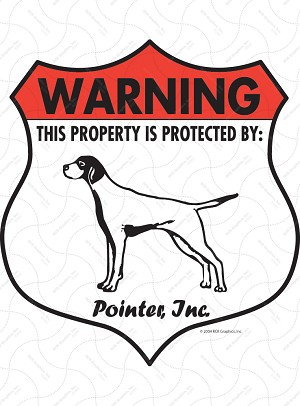 Pointer Badge Shape Sign or Sticker