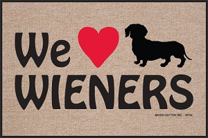 We Love Wieners Doormat