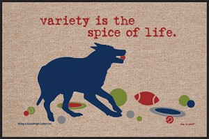 Variety is the Spice of Life Doormat